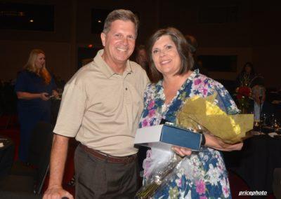 Clyde Tew congrats Rhonda